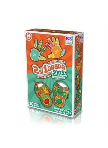 KS Puzzle KS Puzzle BE233 Okul Öncesi 2 si 1 Arada Bağcıklarım Oyunu 16 ParÇa Renkli